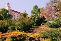 庭院布拉索夫城堡-斯洛伐克 免版税图库摄影