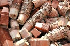 庭院抽签罐简单小堆积 免版税图库摄影