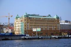 庭院旅馆在圣彼得堡 库存照片