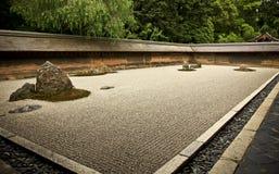 庭院日本京都岩石ryoanji 免版税库存图片