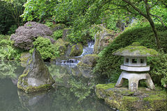 庭院日本人池塘 库存照片