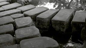 庭院日本人石头 免版税库存图片