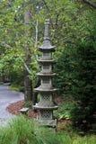 庭院日本人雕塑 库存照片