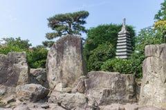 庭院日本人雕塑 库存图片