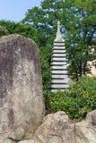 庭院日本人雕塑 免版税库存图片