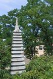 庭院日本人雕塑 免版税库存照片