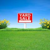 庭院旧货出售标志 库存图片
