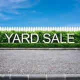 庭院旧货出售符号 免版税库存图片