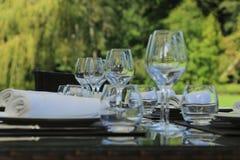 庭院晚餐 库存照片