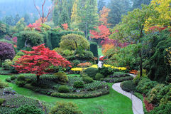 庭院横向 免版税库存照片
