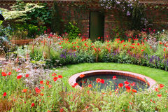 庭院池塘 库存照片