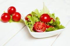 庭院混合沙拉 免版税库存照片