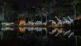庭院焕发迪拜,阿拉伯联合酋长国 免版税库存图片