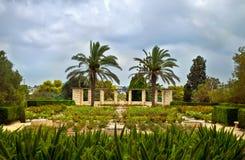 庭院爱德蒙de Rothschild (公园Ramat Hanadiv)男爵 库存图片