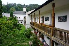 庭院的看法从阳台的 免版税图库摄影