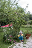 庭院的雕象 免版税库存照片