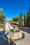 庭院看法阿尔梅里雅& x28的; AlmerÃa& x29;城堡& x28; Almeria& x29 Alcazaba; 库存照片