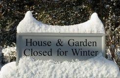 庭院符号冬天 免版税库存图片