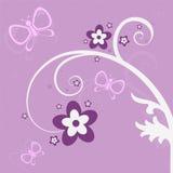 庭院紫色场面 免版税库存照片