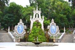 庭院美人鱼-科英布拉葡萄牙 免版税库存照片