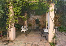 庭院老西班牙语 免版税库存照片