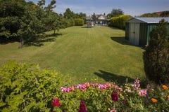 庭院草坪-英国 库存照片