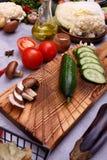 庭院菜和种子在厨房 免版税库存照片