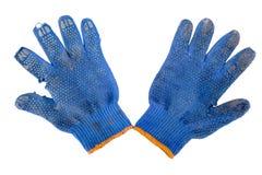 庭院蓝色手套 库存照片
