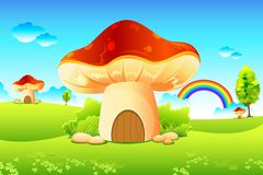 庭院蘑菇 库存图片