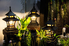 庭院装饰的灯 库存图片