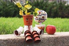 庭院装饰的装饰民间人 库存图片