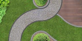 庭院设计从上面 免版税库存图片