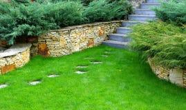 庭院路径石头 图库摄影