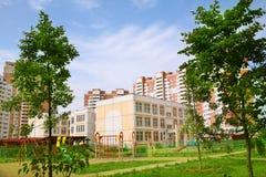庭院通常的莫斯科 免版税库存图片