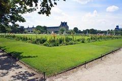 庭院遗产巴黎围网sitebanks tuileries世界 库存照片