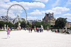 庭院遗产巴黎围网sitebanks tuileries世界 免版税库存照片