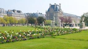 庭院遗产巴黎围网sitebanks tuileries世界 免版税图库摄影