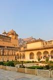 庭院,宫殿堡垒在印度 免版税库存照片