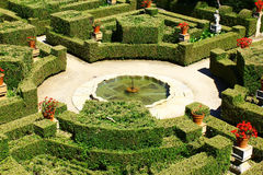 庭院,布朗库堡,葡萄牙 免版税图库摄影