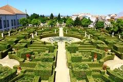 庭院,布朗库堡,葡萄牙 免版税库存照片