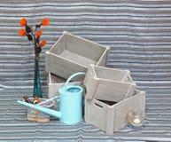 庭院水罐 免版税库存图片