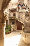 庭院 Papalic宫殿 已分解 克罗地亚 图库摄影