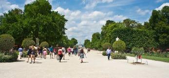 庭院巴黎tuileries 免版税库存图片