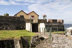 庭院eustatius堡垒oranje oranjestad sint 免版税库存图片