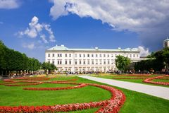 庭院mirabell萨尔茨堡 免版税库存照片