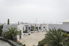 庭院Rubicon小游艇船坞Playa布朗卡兰萨罗特岛西班牙 库存图片