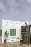 庭院Rubicon小游艇船坞Playa布朗卡兰萨罗特岛西班牙 免版税图库摄影