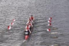 康乃尔大学在查尔斯赛船会人的主要Eights头赛跑  免版税库存照片