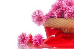 康乃馨明亮的花束  免版税图库摄影