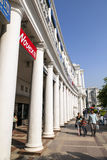 康乐广场是其中一个最大的财政,商务和商业中心在德里 库存照片